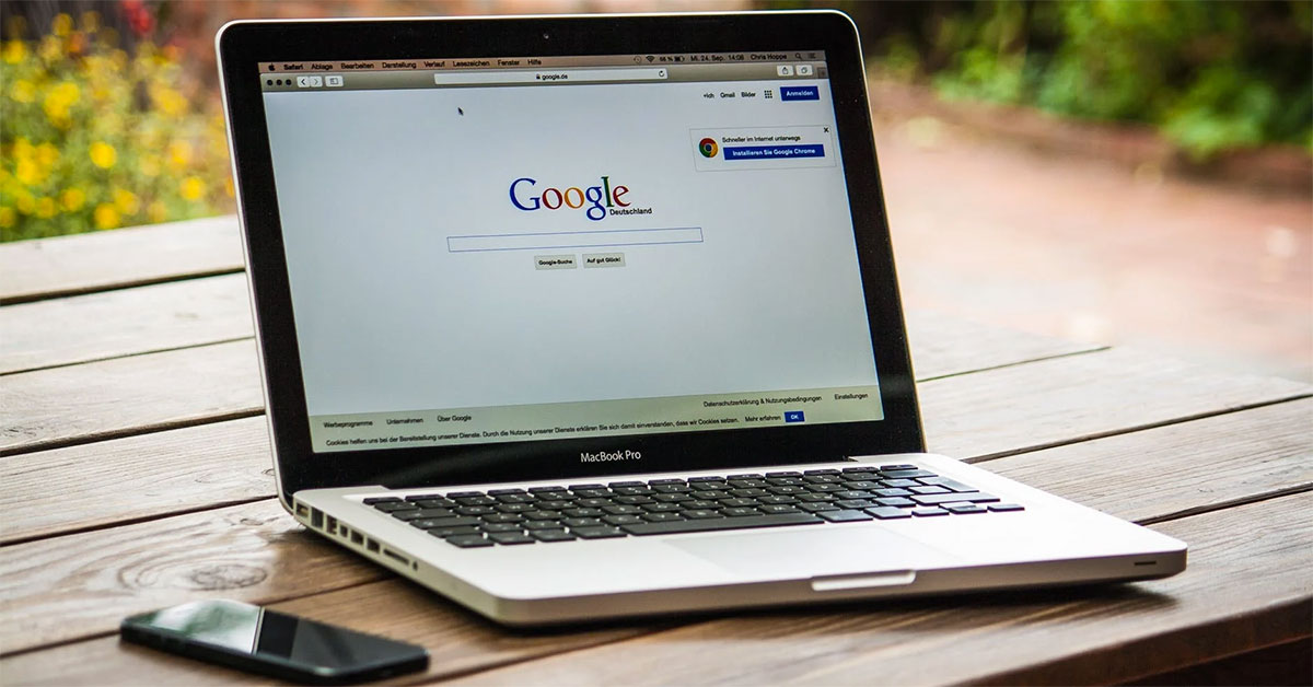 Google My Business listing page
