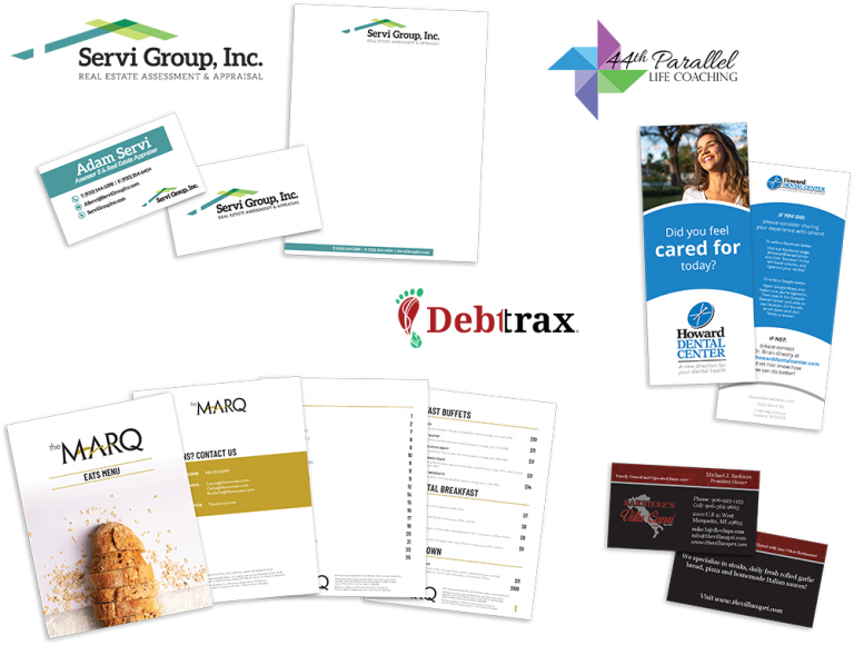 Graphic design, one of the Full Scope Services