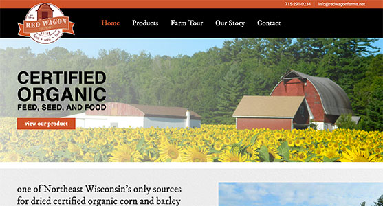Red Wagon Farms, a Green Bay WI Web Design Project