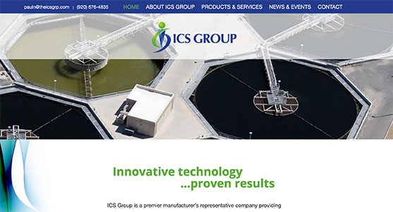 The ICS Group website preview